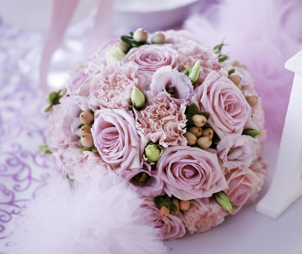 bukiety na stół różowe