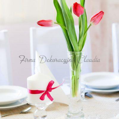 flakon z tulipanami
